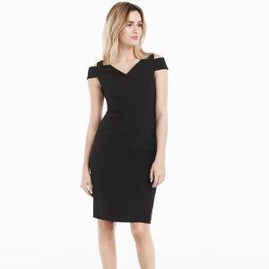 WHBM Cold Shoulder Sheath Dress 570196953 12 US